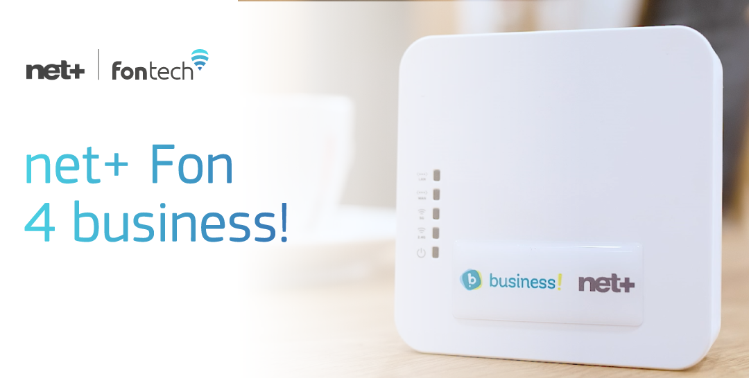 "New ""net+ Fon 4 business!"" product based on Fontech's technology!"